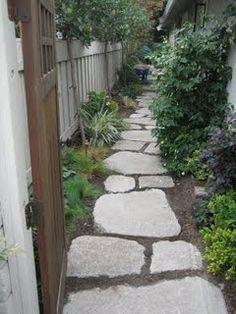 Plant Native Designs: Urbanite Path and Cut-Stone Patio Entrance : Cupertino, Ca.