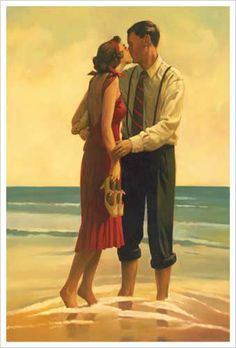 Alone at Last (Couple Kissing on the Beach) by Jack Vettriano