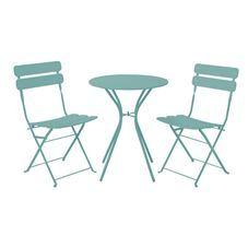 Enjoy al fresco dining with the Homebase range of garden bistro sets. Available in wood, metal and rattan. Order your outdoor bistro set from Homebase today. Outdoor Dining Set, Outdoor Tables, Outdoor Decor, Patio Furniture Sets, Garden Furniture, Bistro Set, Aqua, Metal, Sun Spot