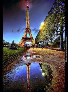 Eiffel Tower Reflection Paris by Edwinjones, via Flickr