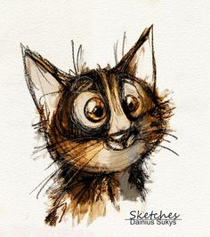 sketch of kitty cat