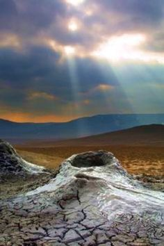 Mud volcanoes of Gobustan, Azerbaijan Credit: R. Dane/Getty/UNESCO