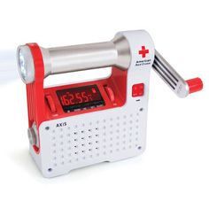This is the portable radio recommended by the Red Cross for emergency preparedness. It combines several emergency tools into one handheld unit, including a radio, LED flashlight, beacon, and cell phone charging phone phone phone Emergency Radio, In Case Of Emergency, Emergency Kits, Emergency Preparation, Radios, Camping Survival, Survival Prepping, Survival Gear, Survival Quotes
