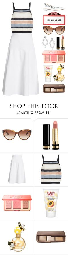 """""""5.592"""" by katrinattack ❤ liked on Polyvore featuring Vogue Eyewear, Gucci, Victoria Beckham, SUNO New York, Too Faced Cosmetics, Burt's Bees, Marc Jacobs and Hourglass Cosmetics"""