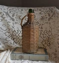 wicker covered bottles - - Yahoo Image Search Results