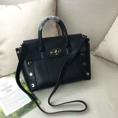 2016 F/W Mulberry Small New Bayswater Black Smooth Calf with Studs £195
