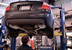 Audi S4 getting fitted with new Milltek Sport Exhaust #3zero3motorsports #audi #milltek