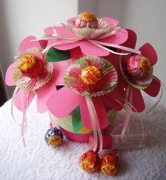 """Dolce Bouquet  """"E' nata una mamma"""" – Lollipop bouquet - Idea regalo nascita, by Piccoli Sogni, 13,00 € su misshobby.com"""