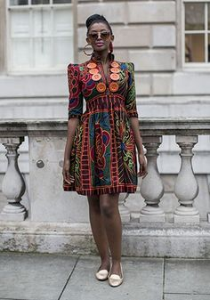 LONDON FASHION WEEK SS14: STREET STYLE DAY 2 #AfricanPrints #kente #ankara #AfricanStyle #AfricanInspired