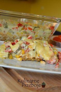 Zapiekanka ryżowa kebab gyros, zapiekanka ryżowa z kurczakiem gyros, zapiekanka…