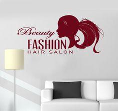 Vinyl Wall Decal Beauty Fashion Hair Salon Barbershop Stylist Stickers (ig3405)