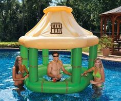 This Inflatable Bar Lets You Serve Drinks from the Middle of the Pool #summer #poolparty trendhunter.com