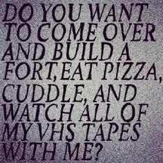Pizza + Cuddle + Movies = ❤
