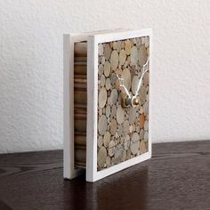 Rustic Wood Desk Clock Shabby Home Decor Small by TayberryDecor:
