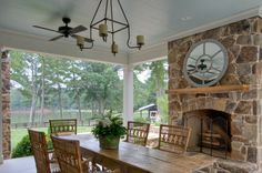 """""""In true Southern style, Miss Sandy's fabulous foyer is also wide enough for additional seating, and she sets up one to two round tables the..."""