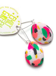Tropicana Painterly Drop Earrings by MadeByEmilyGreen on Etsy, $45.00