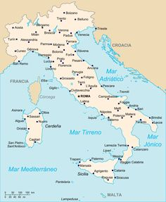 Map of italy showing cities free large images travel pinterest mapa de italia altavistaventures Image collections