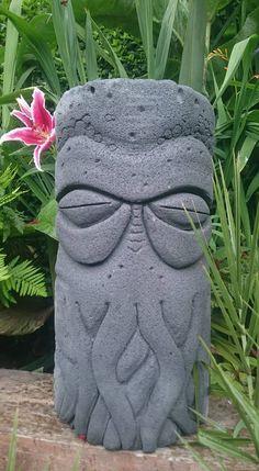 Tiki Man, Tiki Tiki, Tiki Pole, Tiki Decor, Tiki Lounge, Backyard Bar, Tiki Party, Wood Carving Art, Skateboard Art