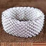 Genuine Sterling Silver Mesh Ring