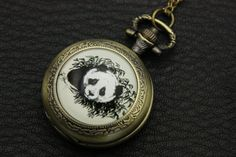 Necklace+Pocket+watch+panda+by+BEATAREN+on+Etsy