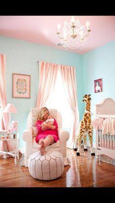 aqua and pink baby girl roomsbaby - Baby Girl Room Chandelier