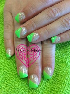 Glitter Gel Diagonal French by KatieHart - Nail Art Gallery nailartgallery.nailsmag.com by Nails Magazine www.nailsmag.com #nailart