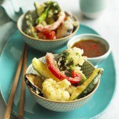 Vegetable Tempura with Wasabi Dipping Sauce
