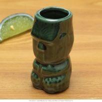 Tiki God Ceramic Shot Glass Green
