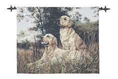 Golden Retrievers - Fine Woven Tapestry Wallhanging Fine Woven Tapestry Wallhanging adds a focal centerpiece to any room The Country Collection of