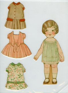 Vintage paper doll.