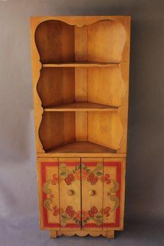 1930s Signed Monterey Corner Hutch Cabinet, Miscellaneous, Antique Monterey,  Rancho And California Furniture