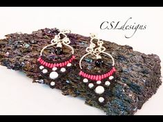Micro macrame chandelier earrings - YouTube
