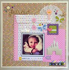 Hello, Princess - Scrapbook.com - Made with the new Simple Stories Enchanted collection.