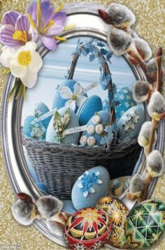 Easter Egg Crafts, Easter Eggs, Happy Easter Gif, Basket Flower Arrangements, Easy Crafts To Sell, Xmas Wishes, Happy Friendship Day, Easter Pictures, Christmas Tree Crafts