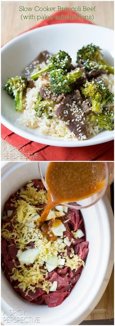 Slow Cooker Broccoli Beef #paleo