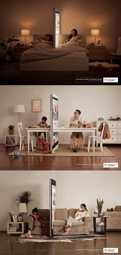 Campaign Shows Loneliness Caused by Smartphones #SmartphonePublicidad