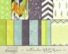 Check out Watercolor Aztec Digital Paper by Creativeqube Design on Creative Market