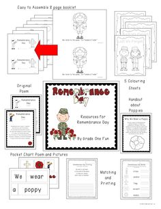 Remembrance Day resources Grade One Snapshots ~TPT Remembrance Day Poems, Remembrance Day Activities, Art Classroom, Classroom Themes, Classroom Activities, Military Veterans, Veterans Day, Rainbow Poppy, Poppy Craft