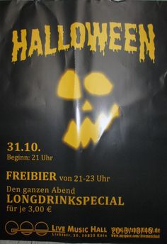 #Flächenplakatierung #Halloween in Köln #Poster #Plakate
