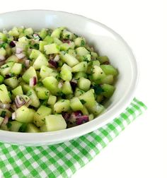 Cucumber Salsa Recipe ~ light, refreshing and packed with flavor
