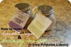 DIY Lavender Sugar &