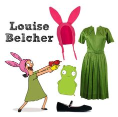 """Louise Belcher - Bob's Burgers"" by missarsenic on Polyvore featuring Claire McCardell and J. Adams"