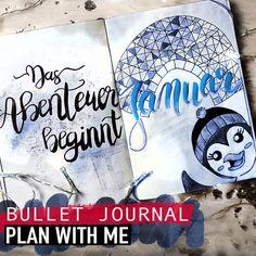 Wusstet ihr schon, dass am 20. Januar internationaler Pinguintag ist? Um darauf hinzuweisen, tummeln sich in meinem BuJo den ganzen schönen Januar lang die Pinguine....was für ein Spaß! Bujo, How To Plan, Art, Deutsch, Bullet Journal Ideas, January, Craft Art, Kunst, Gcse Art