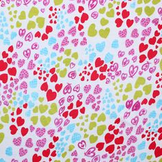 Heart Waves Cotton Baby Ribbed Knit Fabric