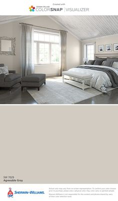 Produce the cosiest cocoon in your sleeping area with these colour suggestions and tricks for . bedroom paint colors I found this color with ColorSnap® Visualizer for iPhone by Sherwin-Williams: Breezy (SW Home, Room Colors, Bedroom Paint, House Colors, Bedroom Decor, Bedroom Paint Colors, Bedroom Colors, Matching Paint Colors, Remodel Bedroom