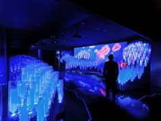 The 'Deep Ocean' Display by External Reference Architects is Serene #neon #architecture trendhunter.com