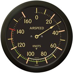 """9061VF-14 - 14"""" Vintage Airspeed Indicator Wall Thermometer - $39.95 - www.trintec.com"""