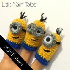 Hey, I found this really awesome Etsy listing at https://www.etsy.com/listing/242957926/minion-inspired-finger-puppets-pdf