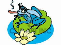 Royalty-Free Cute cartoon blue frog with girlie long eyelashes ...