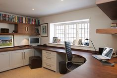 Dark worktop and shaker stile cupboards